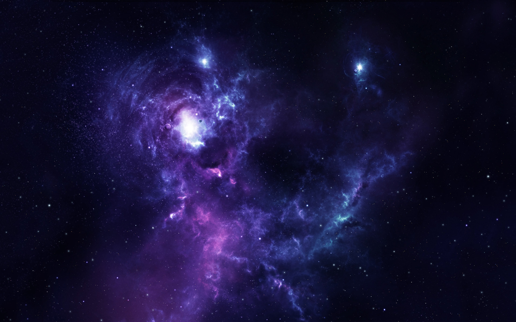 Full HD Wallpapers Blue Purple Space by Sami Mattila Evera 1680x1050