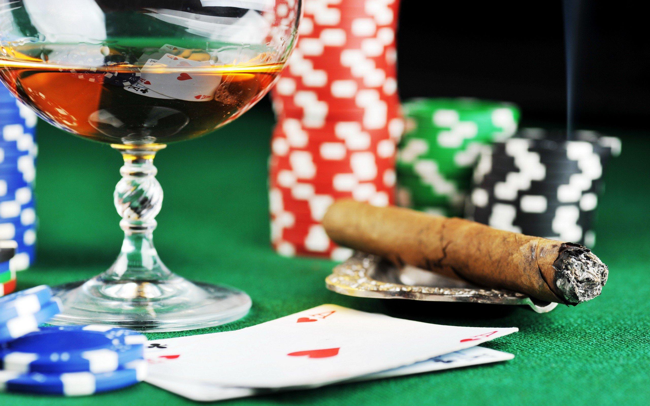 Poker poker chips Casino cigars wallpaper 2560x1600 304765 2560x1600