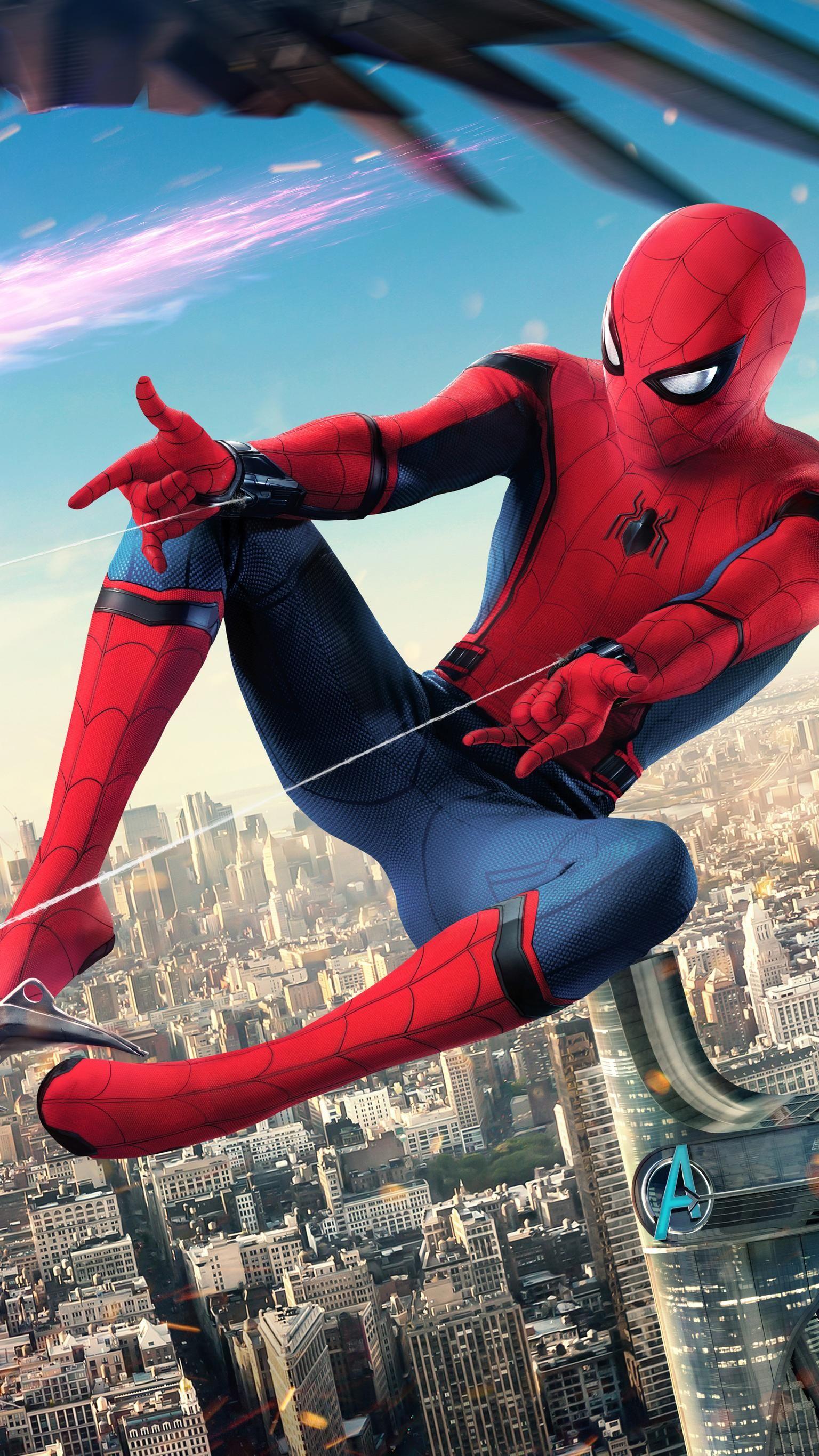 Spider Man Homecoming 2017 Phone Wallpaper Spider man 1536x2732