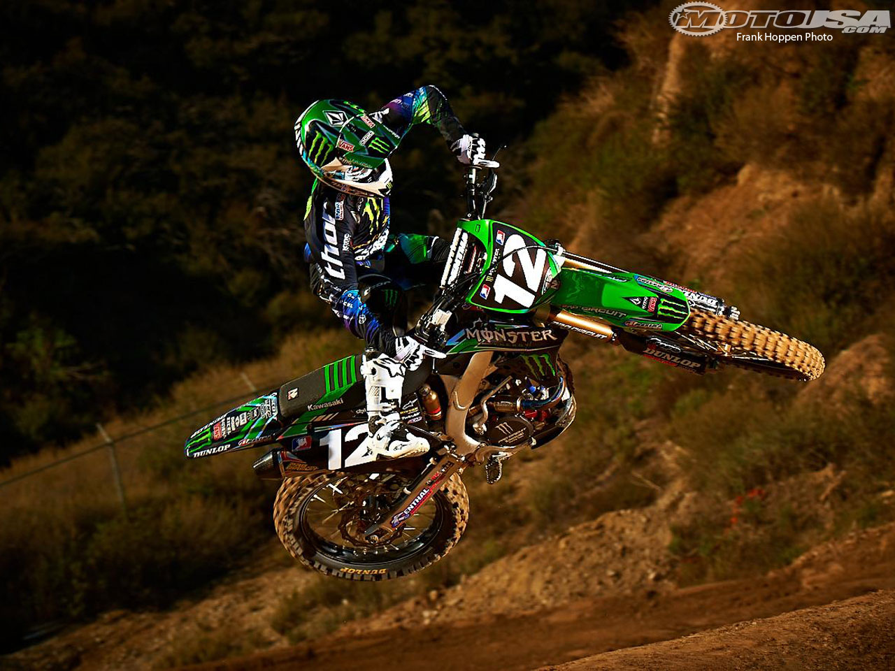 Monster Energy Motocross Wallpaper Blake Baggett   2012 Monster