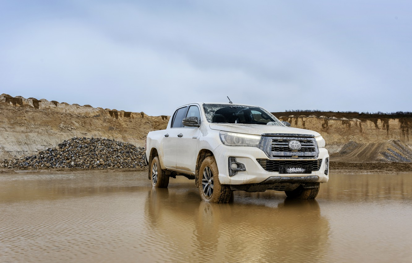 Wallpaper white water Toyota pickup Hilux Special Edition 1332x850