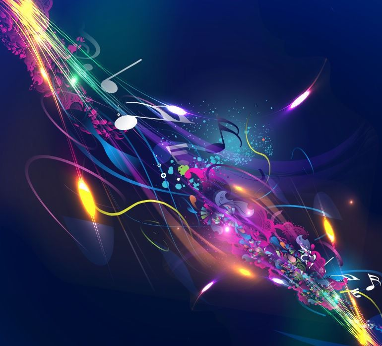 Abstract Music Design Background Vector Illustration Vector 770x697