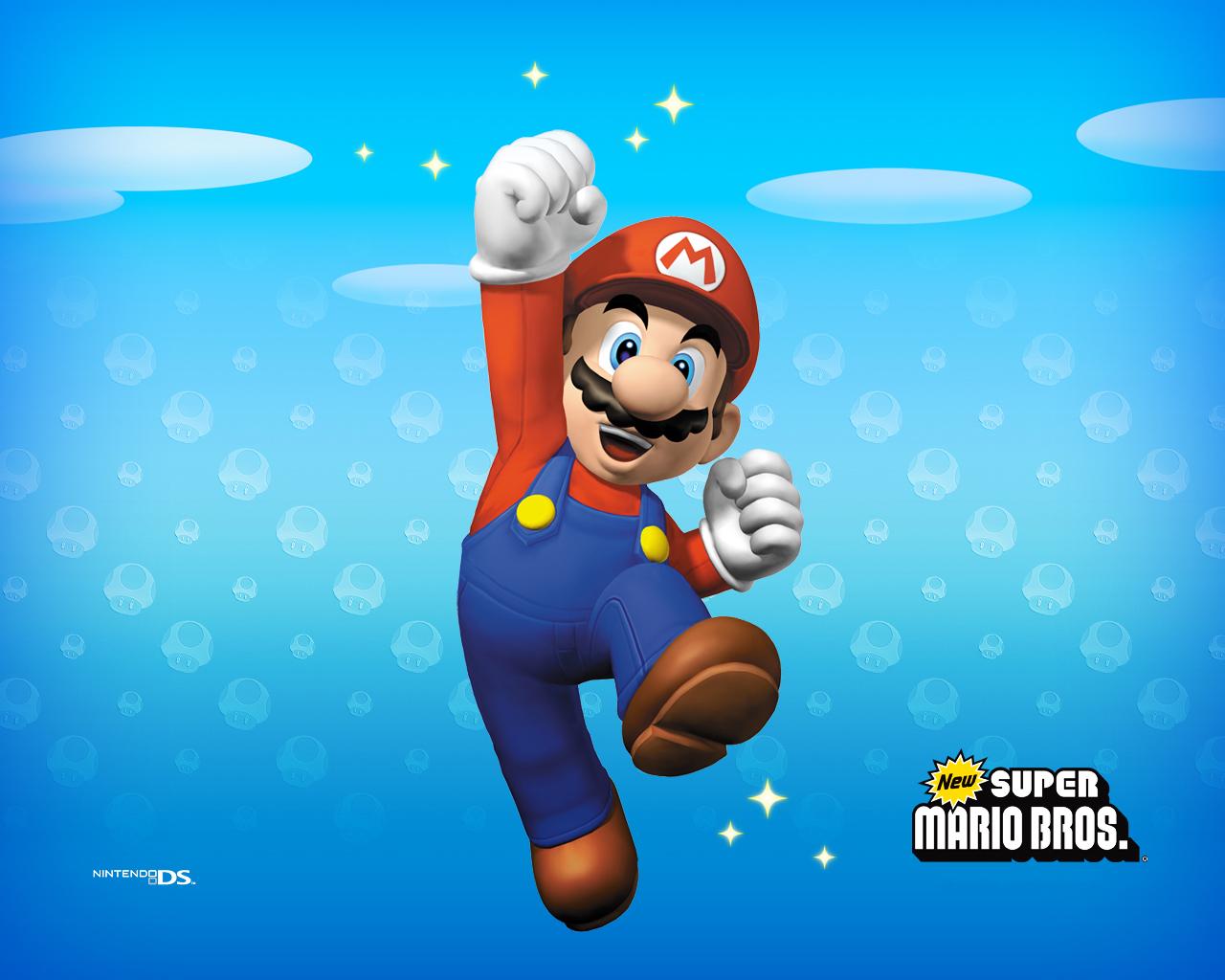 Wallpaper iphone mario bross - New Super Mario Brothers Wallpaper Super Mario Bros