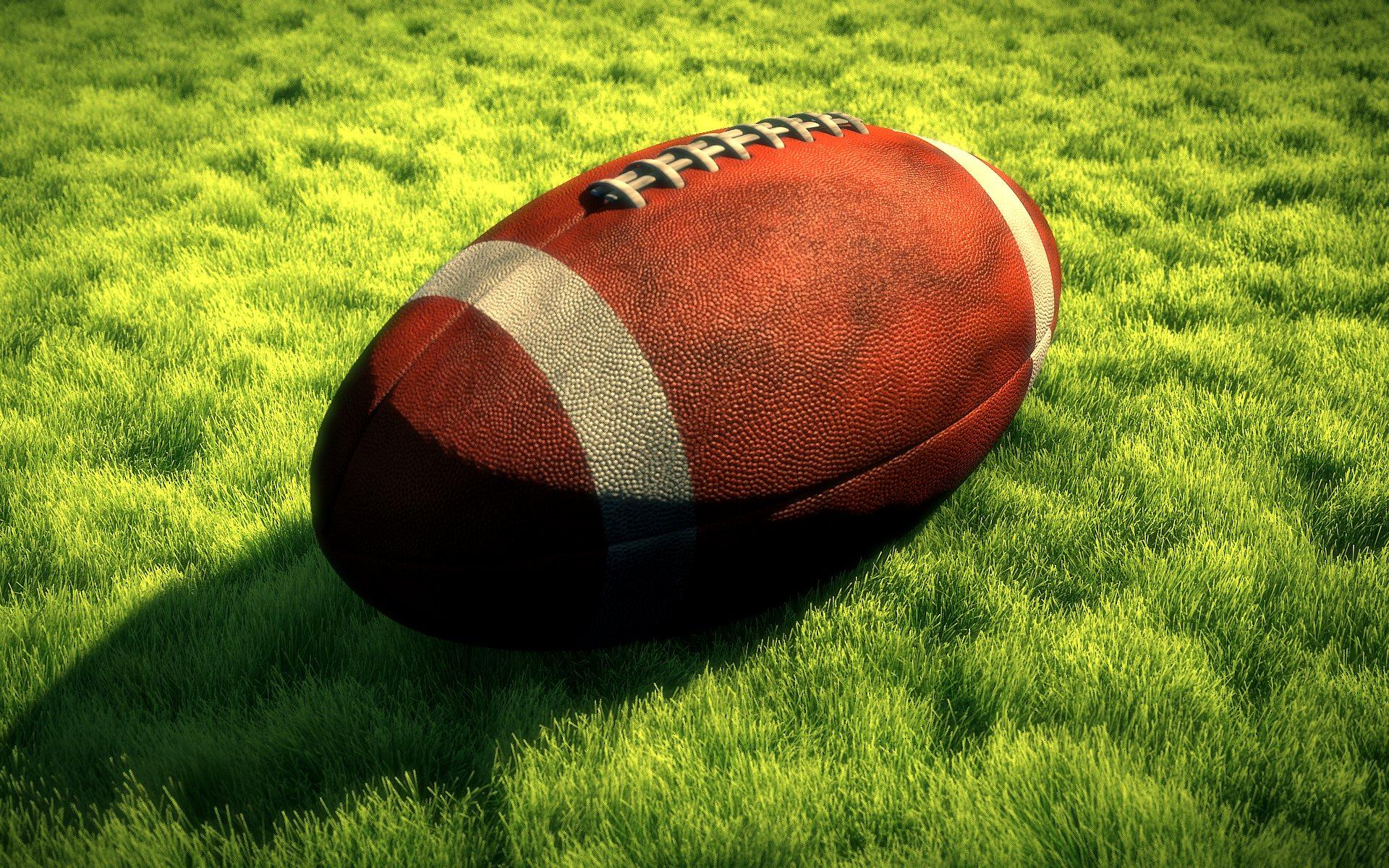 Nfl Football Field Wallpaper Nfl american football ball on 1920x1200