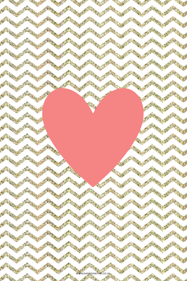 Coral Chevron Wallpaper Iphone wallpaper 640x960