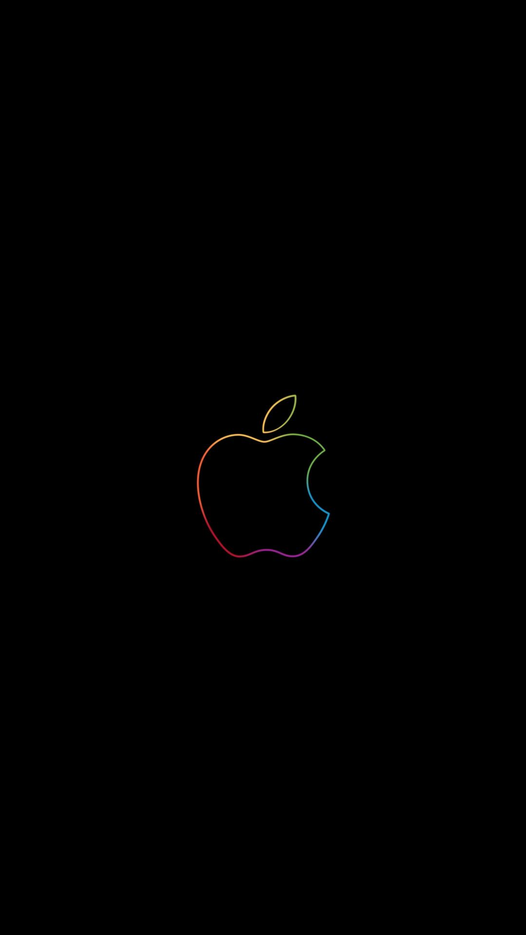 Apple colorful logo minimal 1080x1920 wallpaper Apple logo 1080x1920