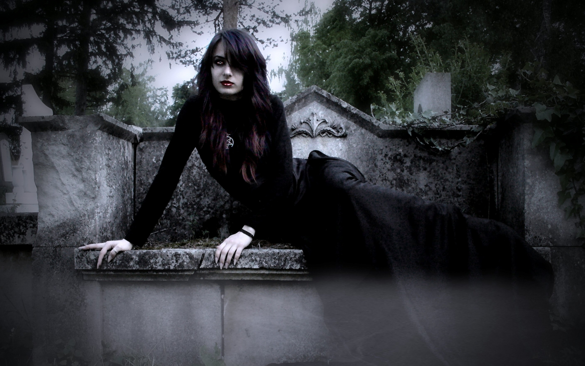 Fantasy dark gothic vampire horror evil wallpaper 1920x1200