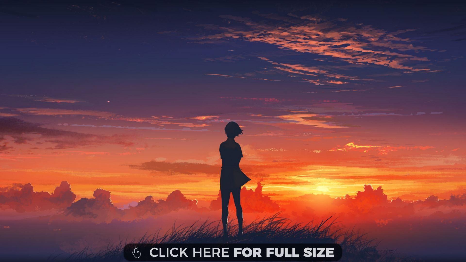 Sunset View Anime wallpaper Anime scenery wallpaper Anime 1920x1080