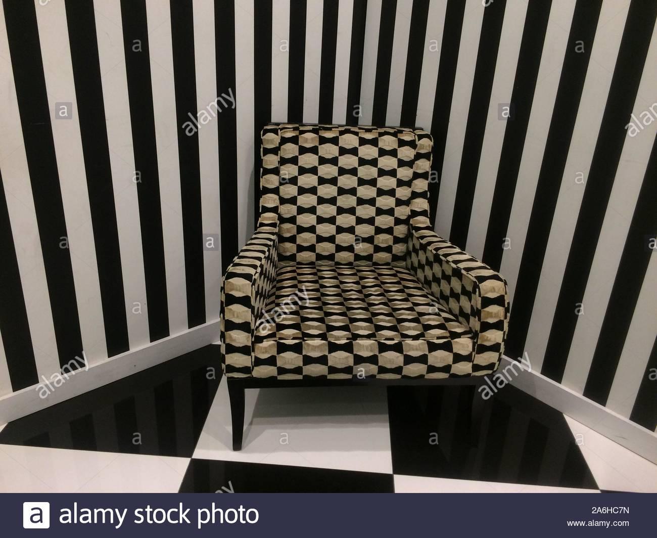 Eccentric modern interior design monochrome room with an 1300x1064