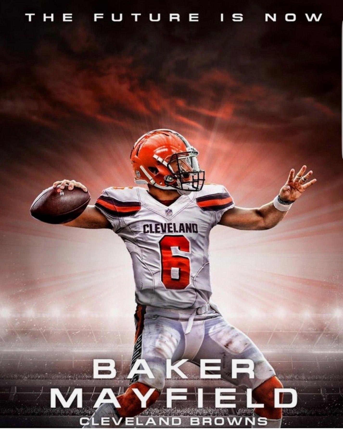 BAKER OU Football stars Cleveland browns football 1426x1782