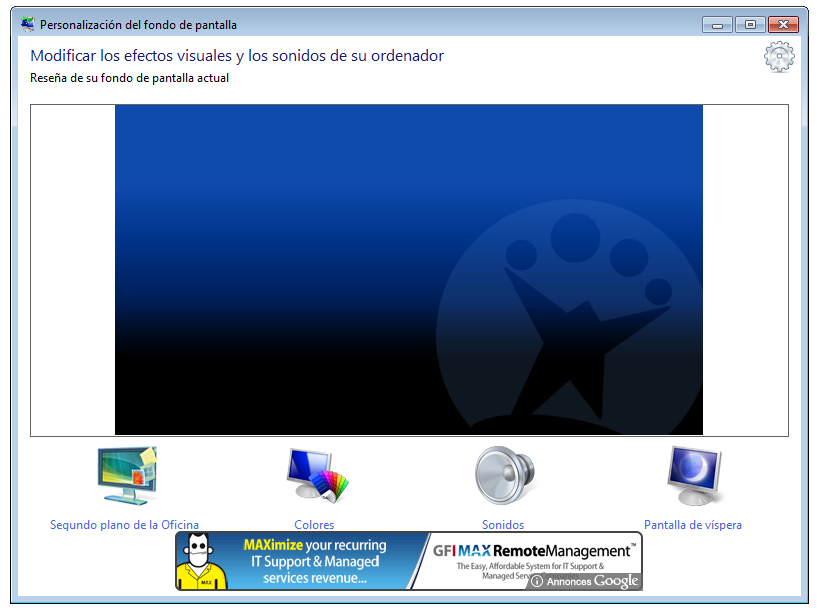 Cmo cambiar el wallpaper de Windows 7 Starter 817x611