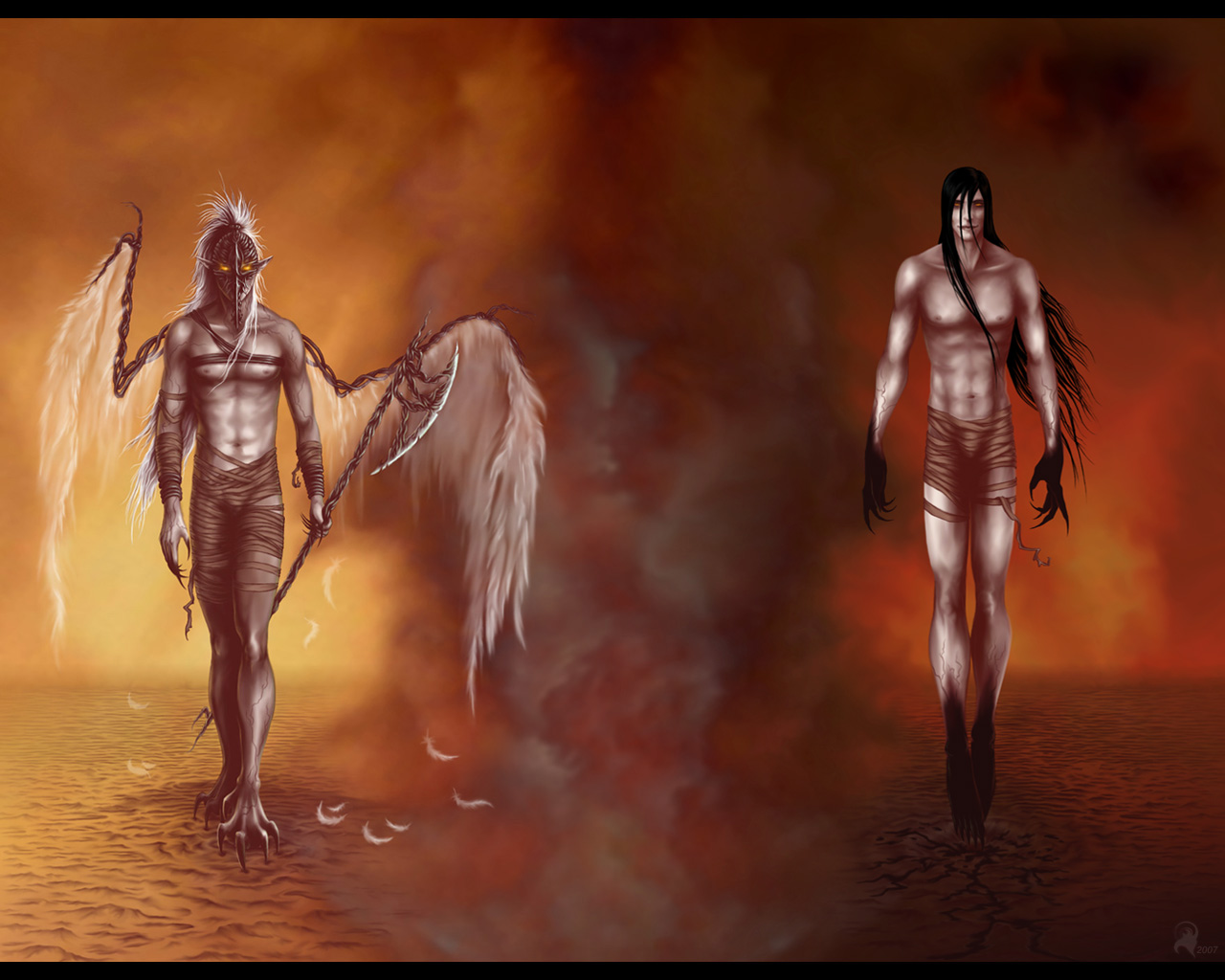 devil angel love 1280x1024
