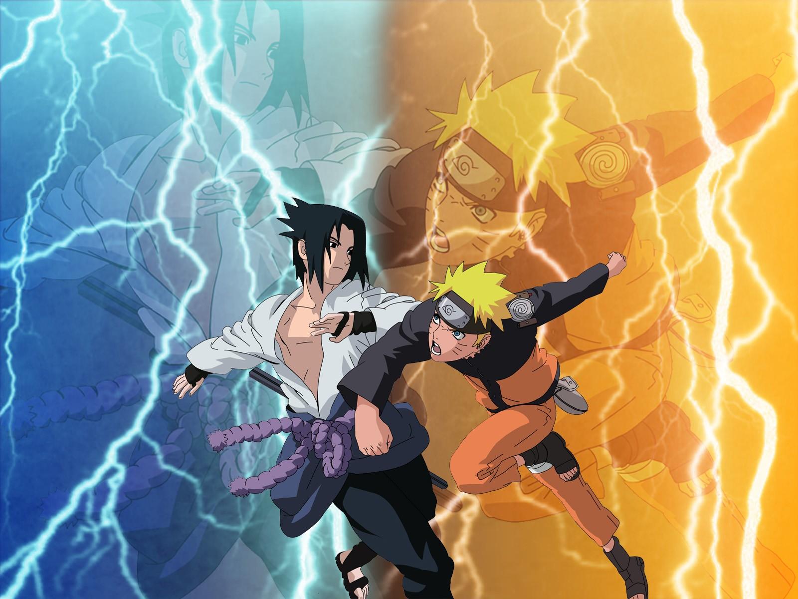 Naruto Shippuden   Sasuke vs Naruto HD Wallpaper Animation 1600x1200