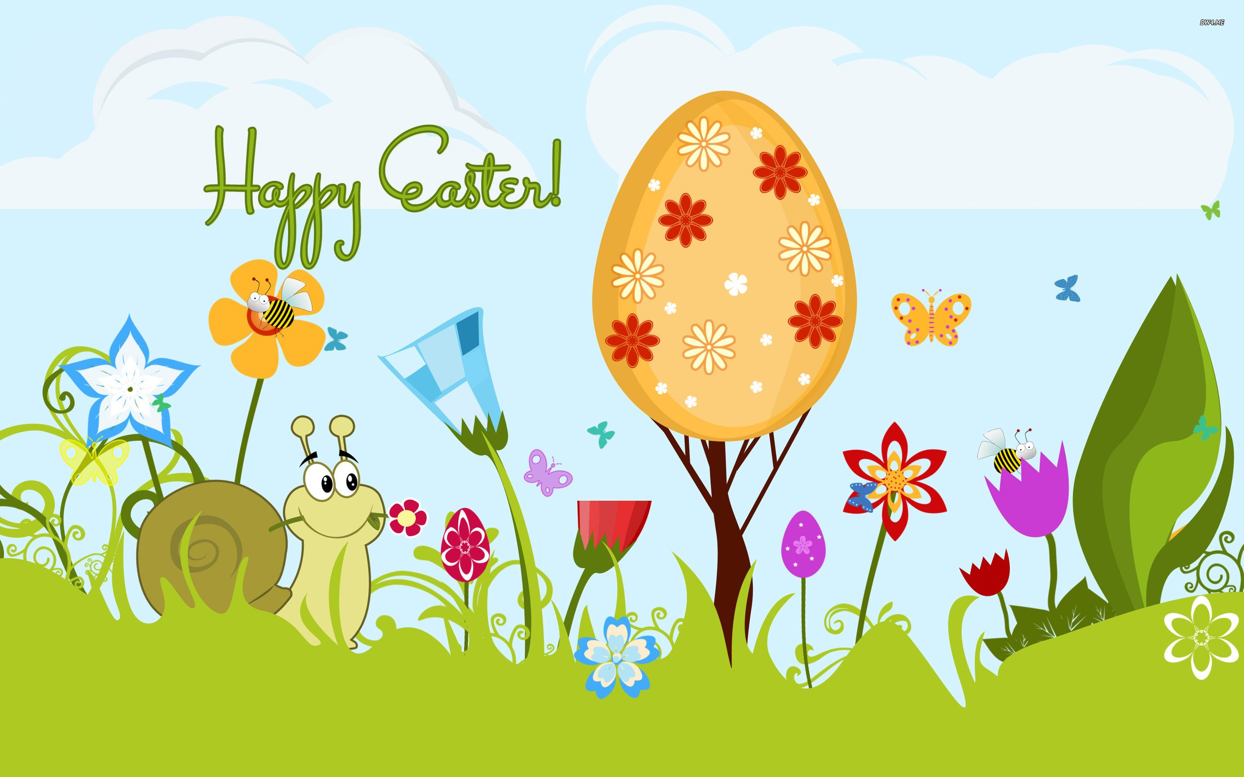 Happy Easter wallpaper   Holiday wallpapers   1258 2560x1600