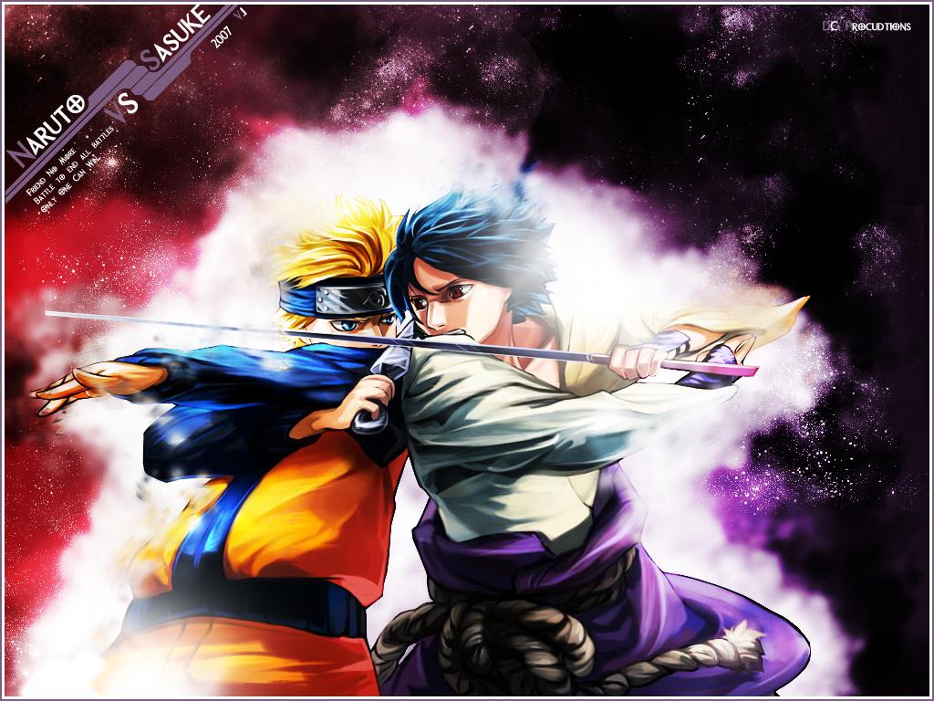 Naruto Vs Sasuke Wallpaper by demoncloud 1024x768