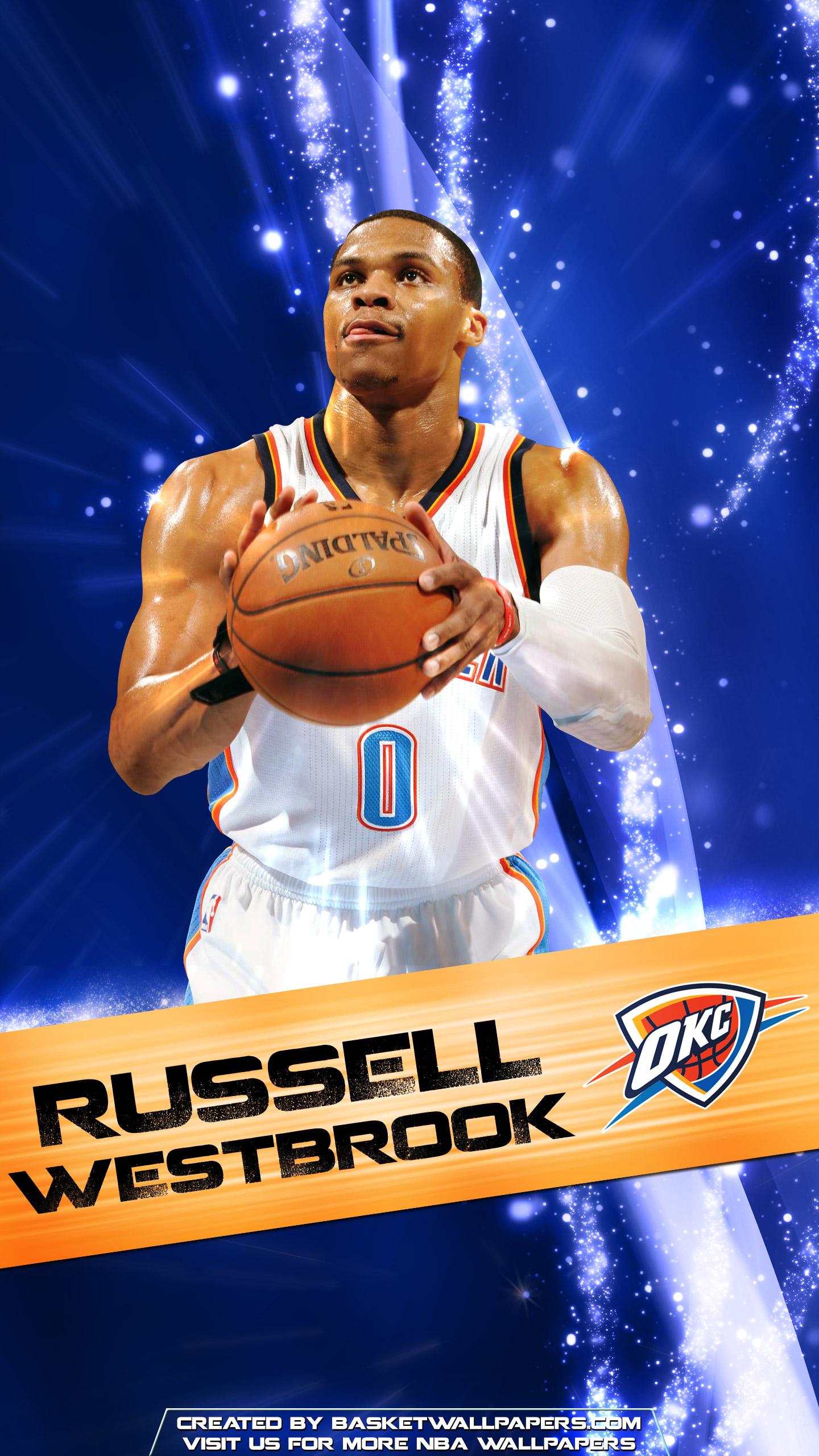 Russell Westbrook OKC Thunder 2016 Mobile Wallpaper Basketball 1440x2560