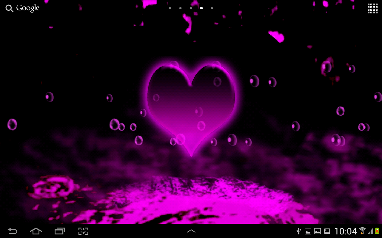 Hearts Live Wallpaper for android Neon Hearts Live Wallpaper 10 1280x800