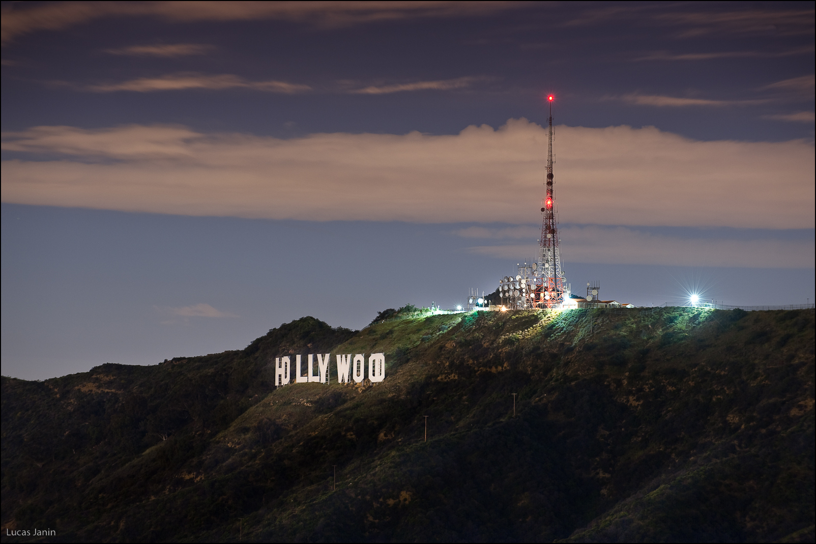 Hollywood Sign By Night wallpaper by BillGate RevelWallpapersnet 1604x1069