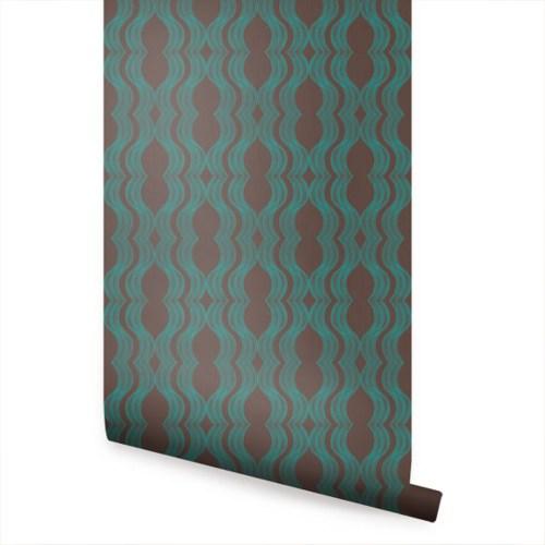 Branch Birds Green Peel and Stick Fabric Wallpaper Repositionable 500x500