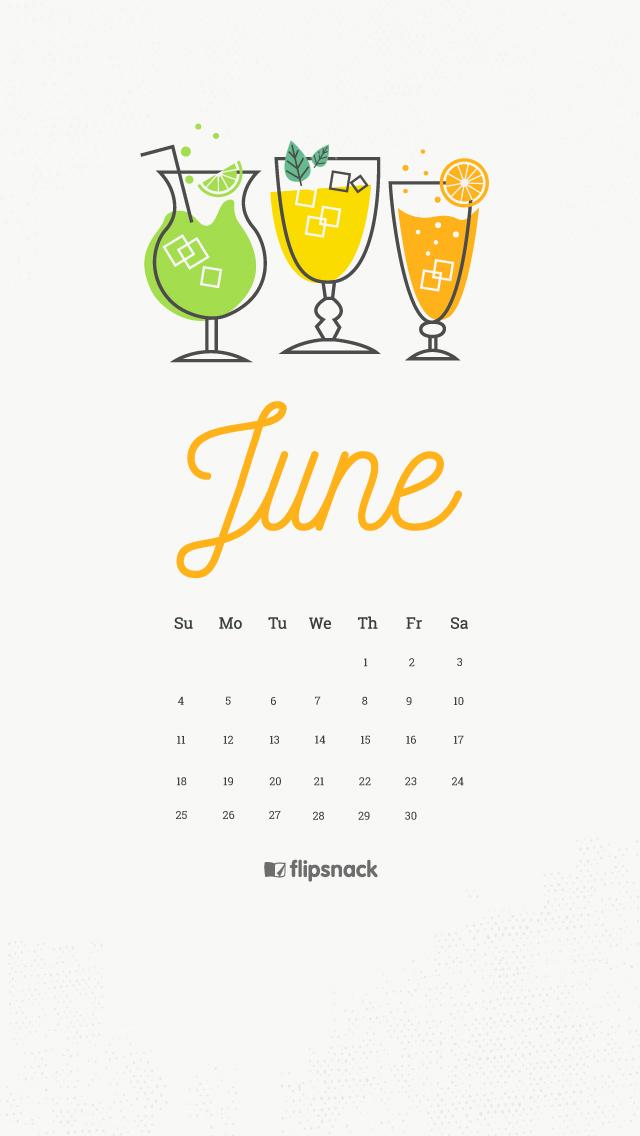 June 2017 calendar wallpaper for desktop background 640x1136