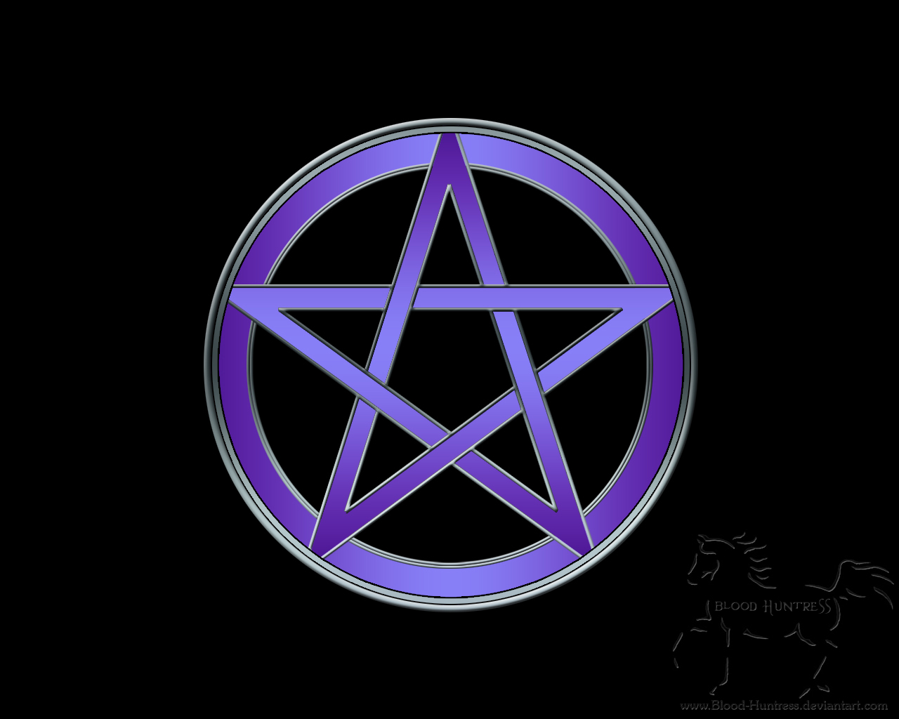Plain Pentacle by Blood Huntress 1280x1024