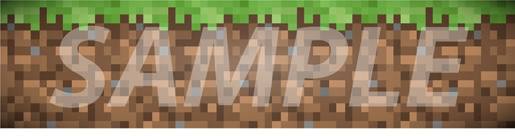 Wallpaper Border Set   Minecraft 16 x 6   Buy 3 Sets Get One Set 736x195
