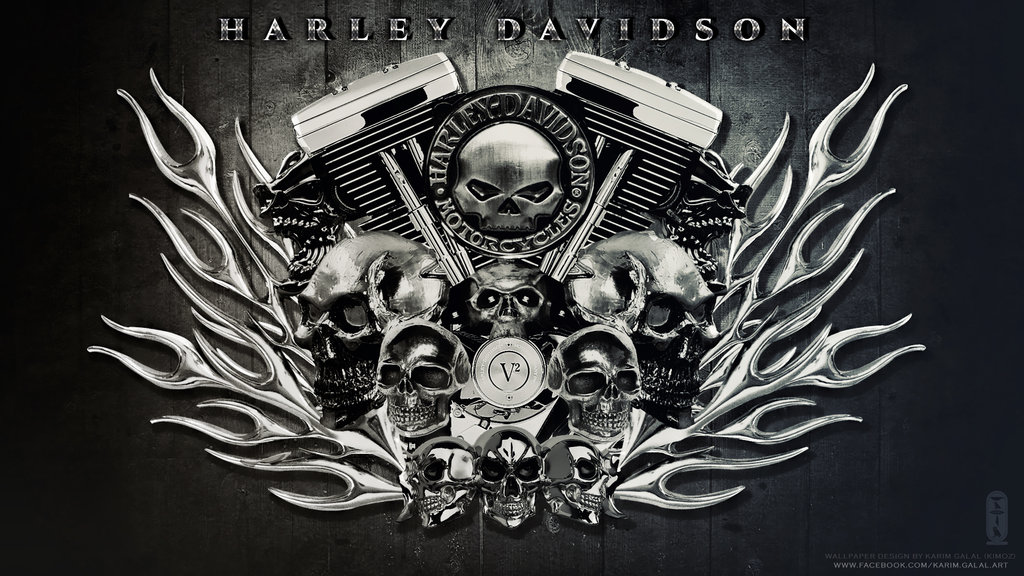 HARLEY DAVIDSON Wallpaper HD by kimoz 1024x576