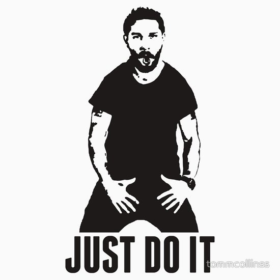 JUST DO IT   Shia LaBeouf Transparent T Shirts Hoodies by 550x550