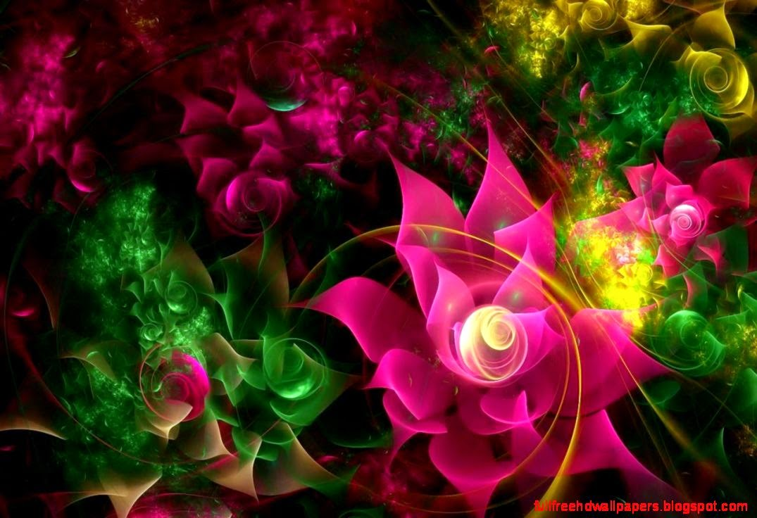 3D Glowing Flower 19 44571 HD Images Wallpapers Image Wallpaper 1075x736