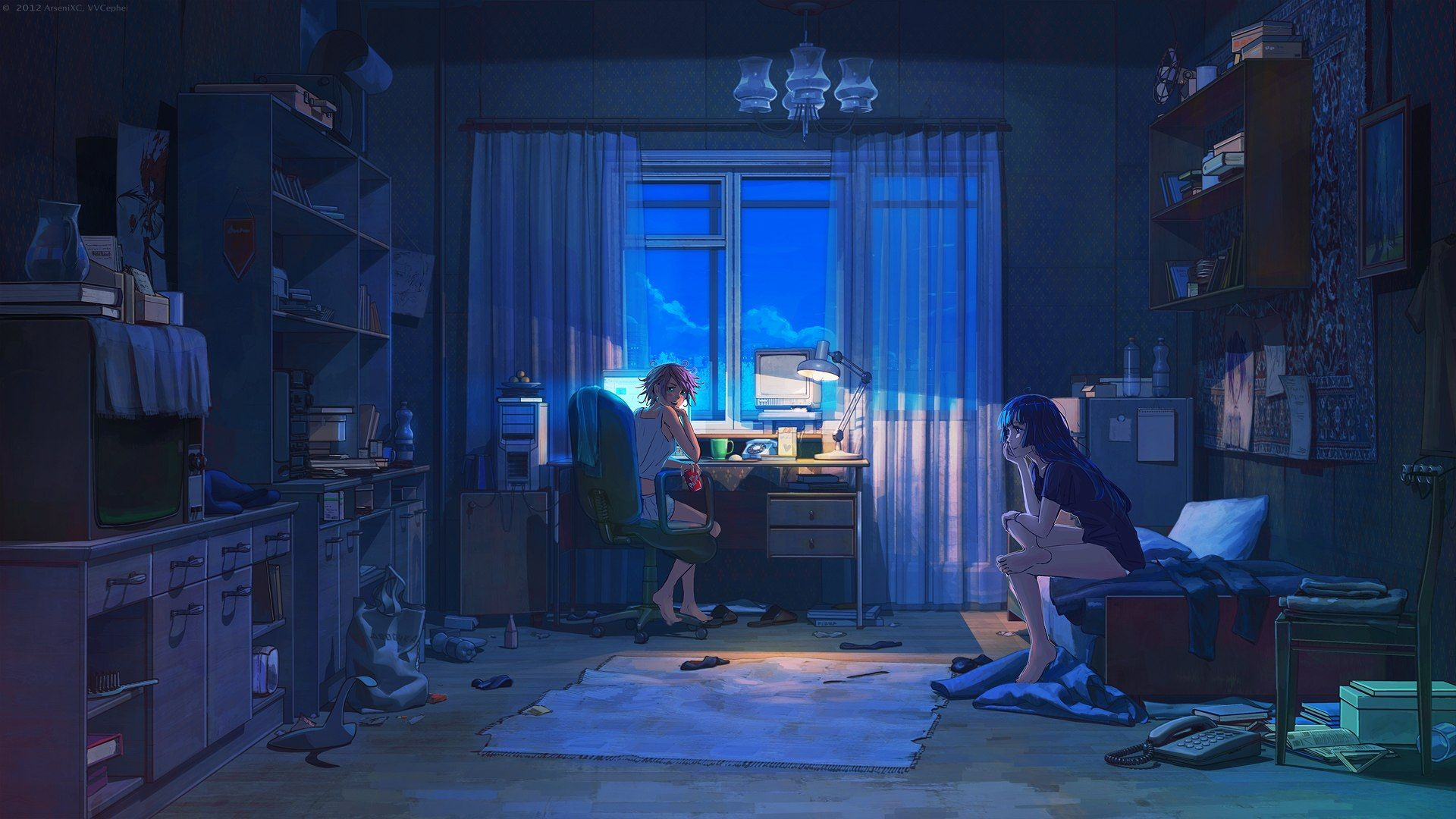 Bedroom House Anime Scenery Background Wallpaper With images 1920x1080