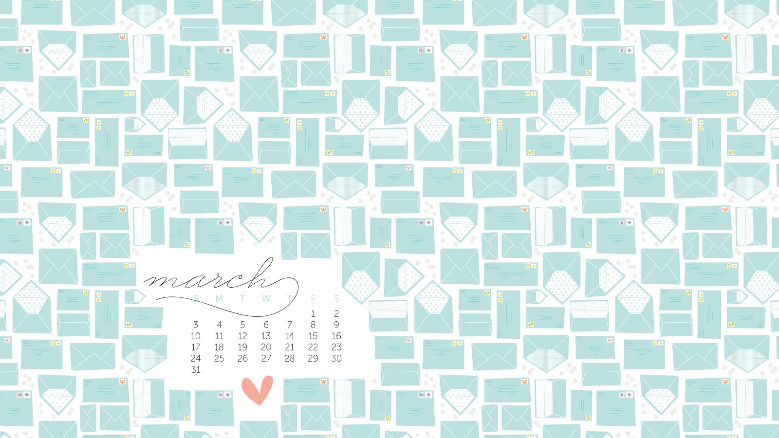 Allisa Jacobs March Desktop Calendar 1600x900
