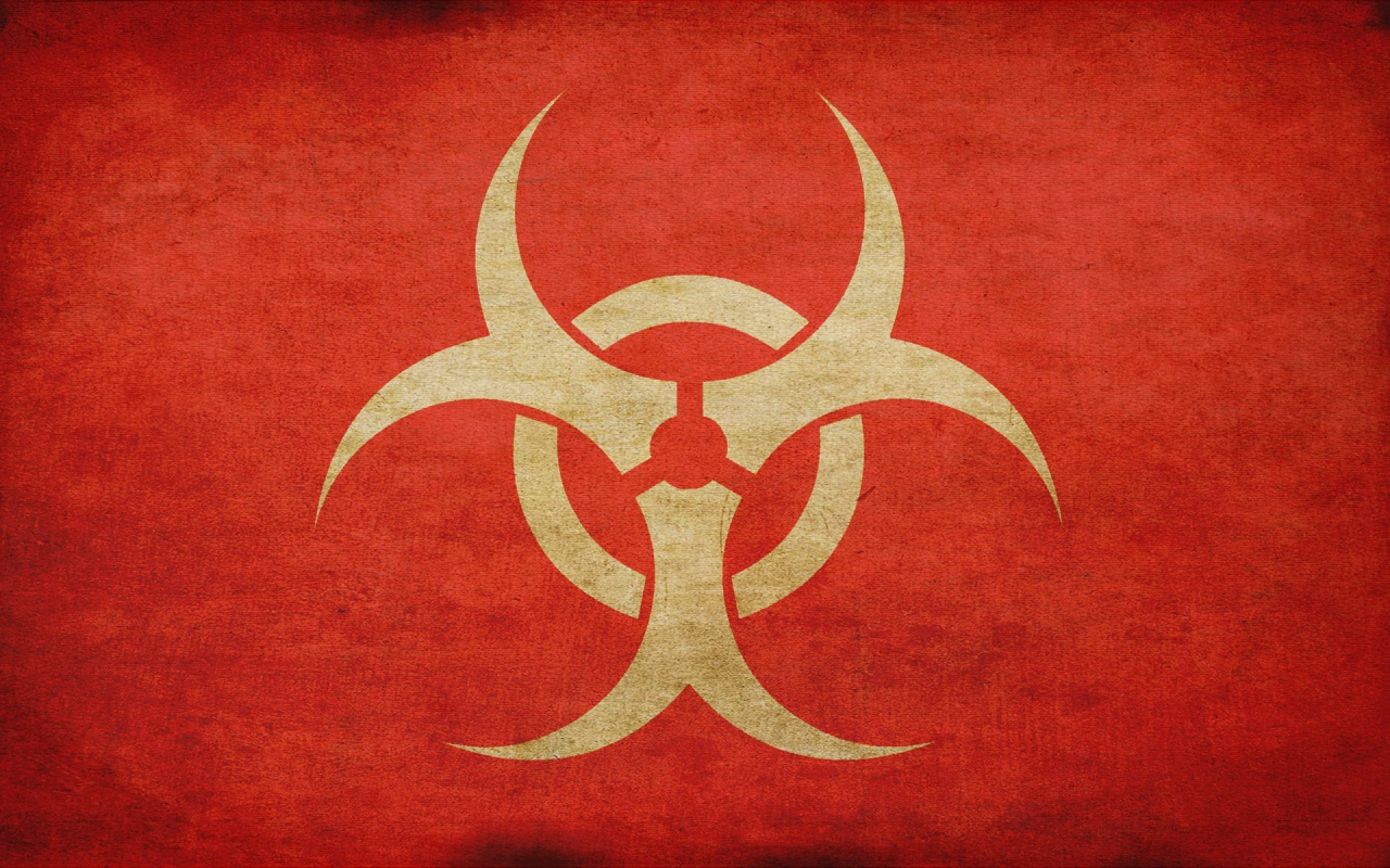 Biohazard Warning Signs Logo HD Wallpapers HD Wallpapers Backgrounds 1280x800