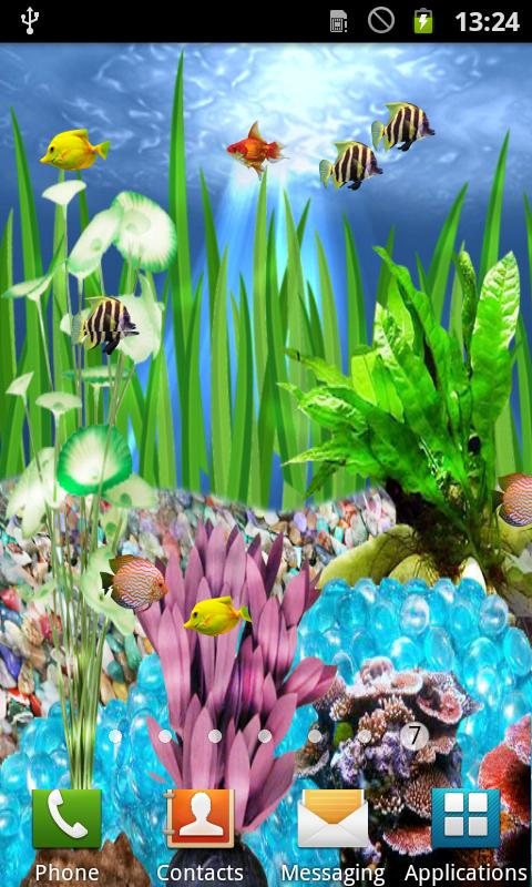 animated fish aquarium with water rippling and fish swimming read more 480x800