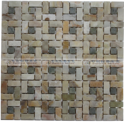 Stone tile wallpaper Mosaic Mosaic for kitchen backsplash bedroom 500x500
