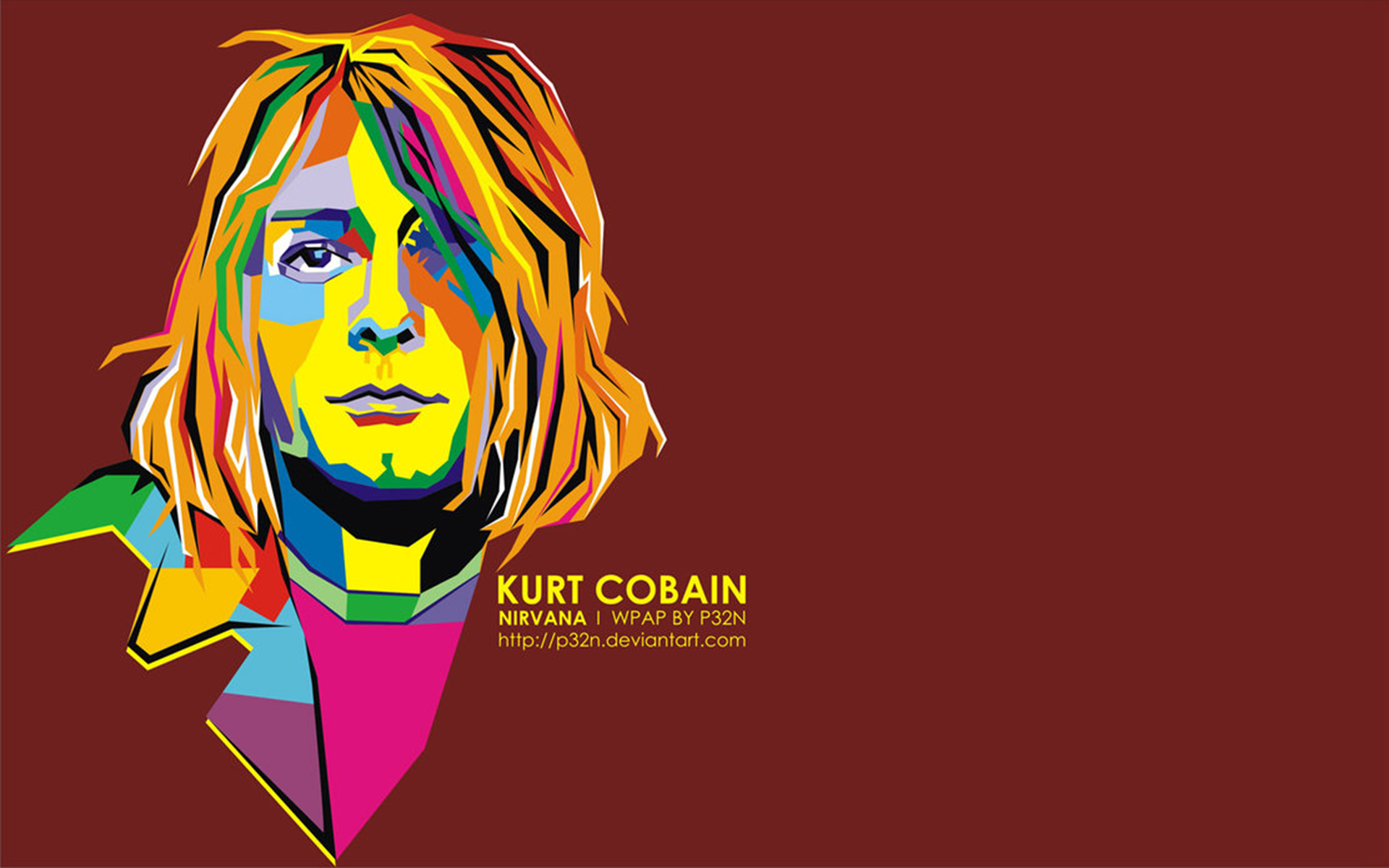 Kurt Cobain In WPAP Design 1920x1200 Download Resolutions Desktop 1920x1080