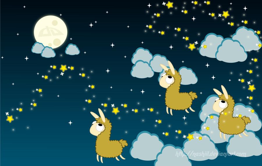 Llama Favs Wallpaper by Nashiil 900x571