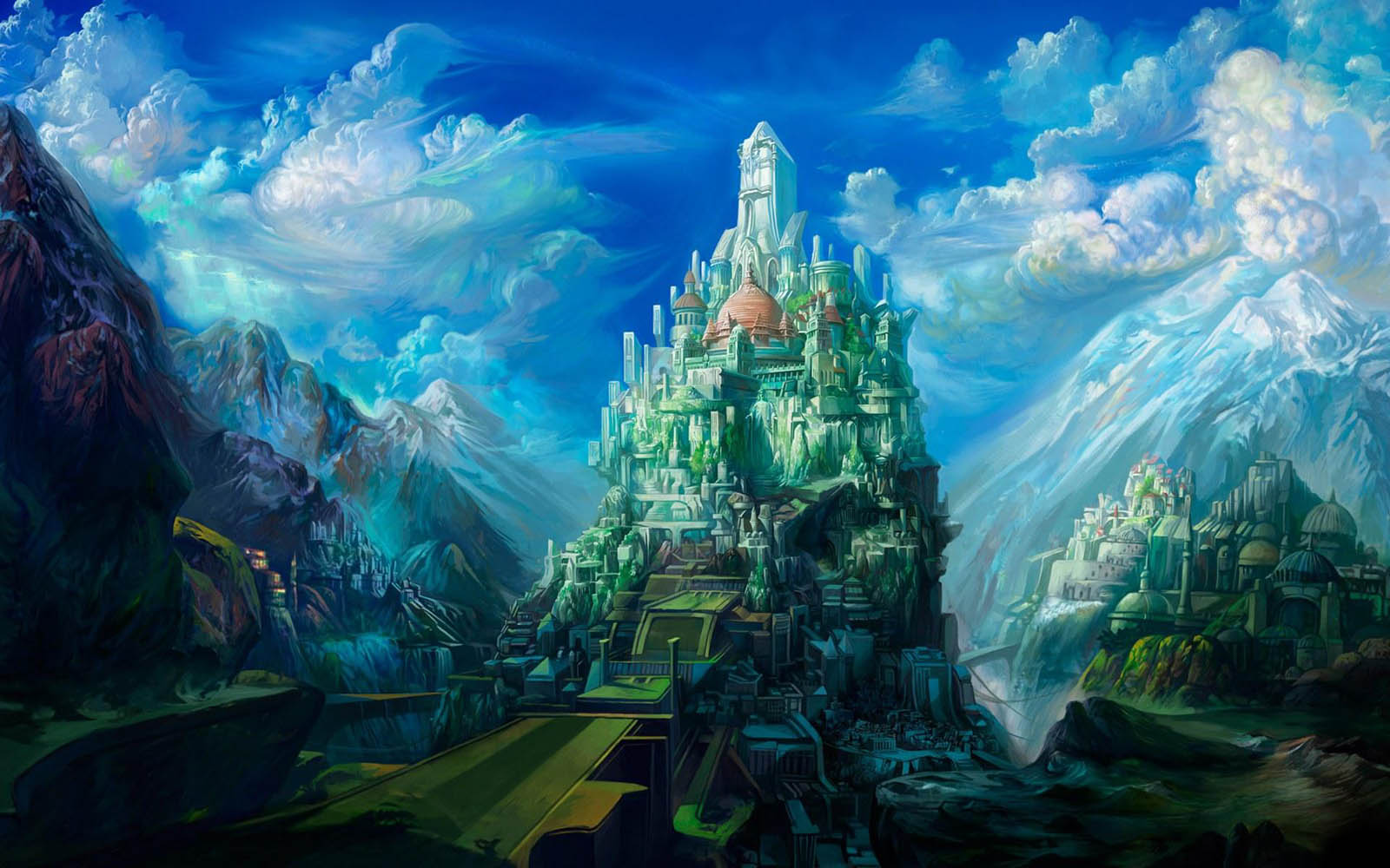 Scenery Desktop Wallpapers Fantasy Art Scenery Desktop Backgrounds 1600x1000