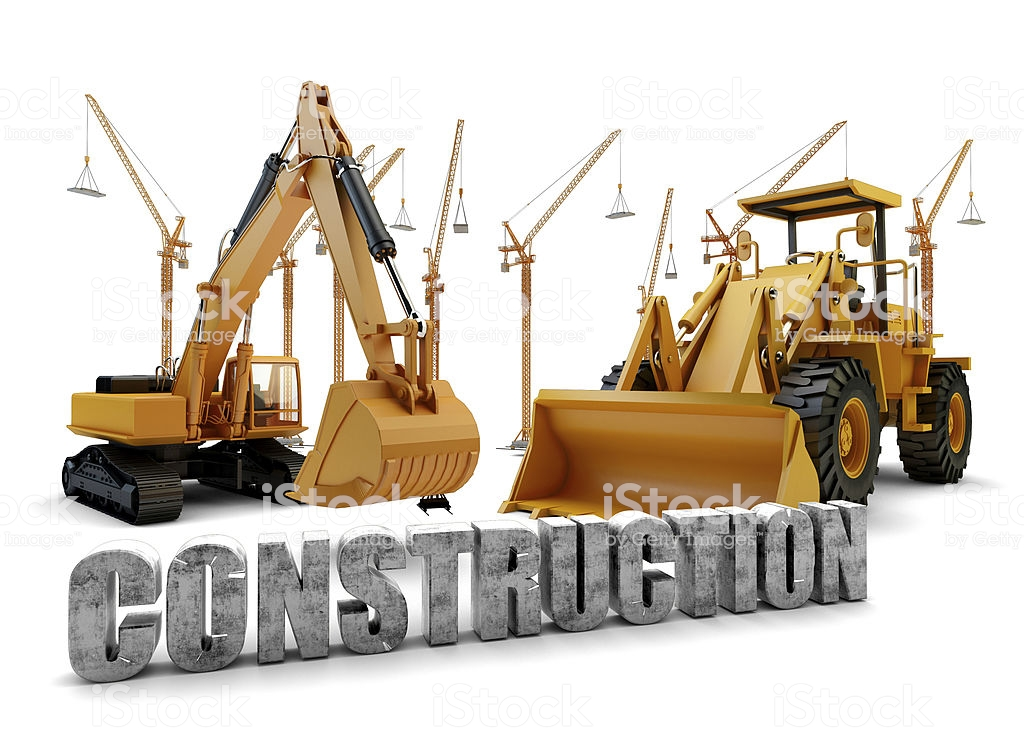 Construction Background With Bulldozer And Loader Stock Photo 1024x731