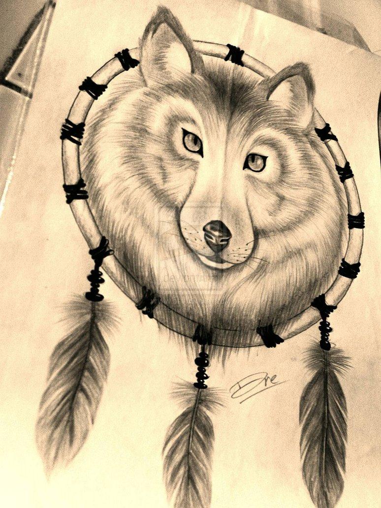 Wolf Dreamcatcher Wallpaper - WallpaperSafari