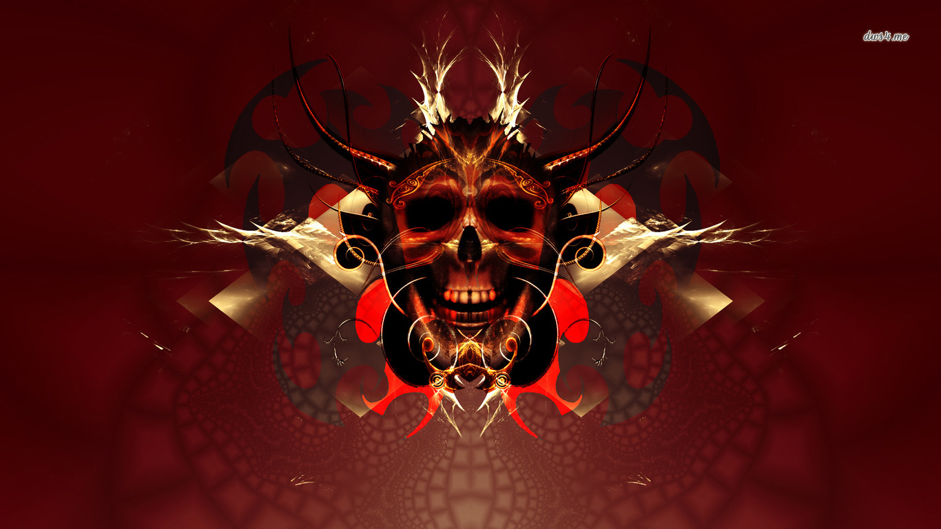 skull wallpapers skull art wallpapers skull desktop backgrounds 1366x768