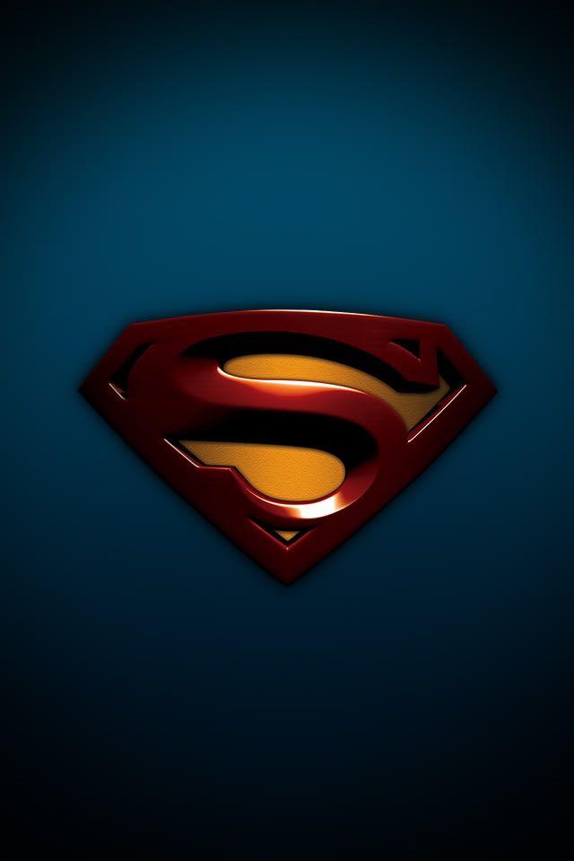 superman logo wallpaper hd iPhone 4 Wallpaper   Superman 640x960