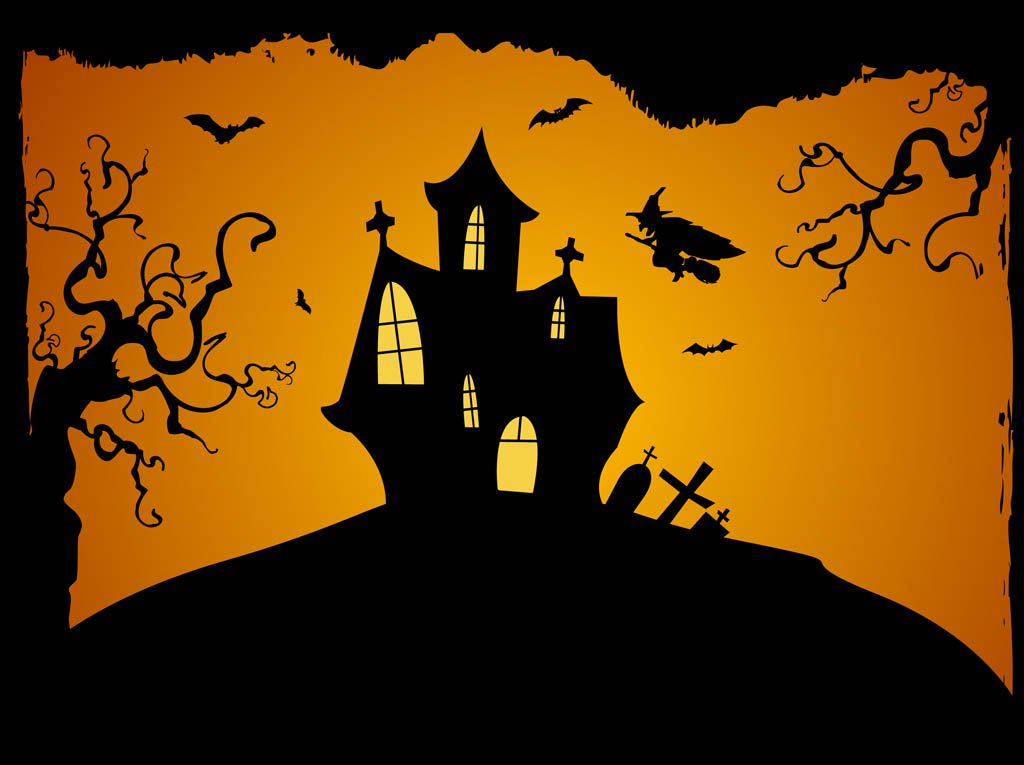 Halloween Background Vector Vector Art Graphics freevectorcom 1024x765