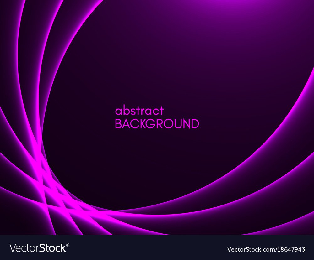 Abstract purple background violet lines on dark Vector Image 1000x830