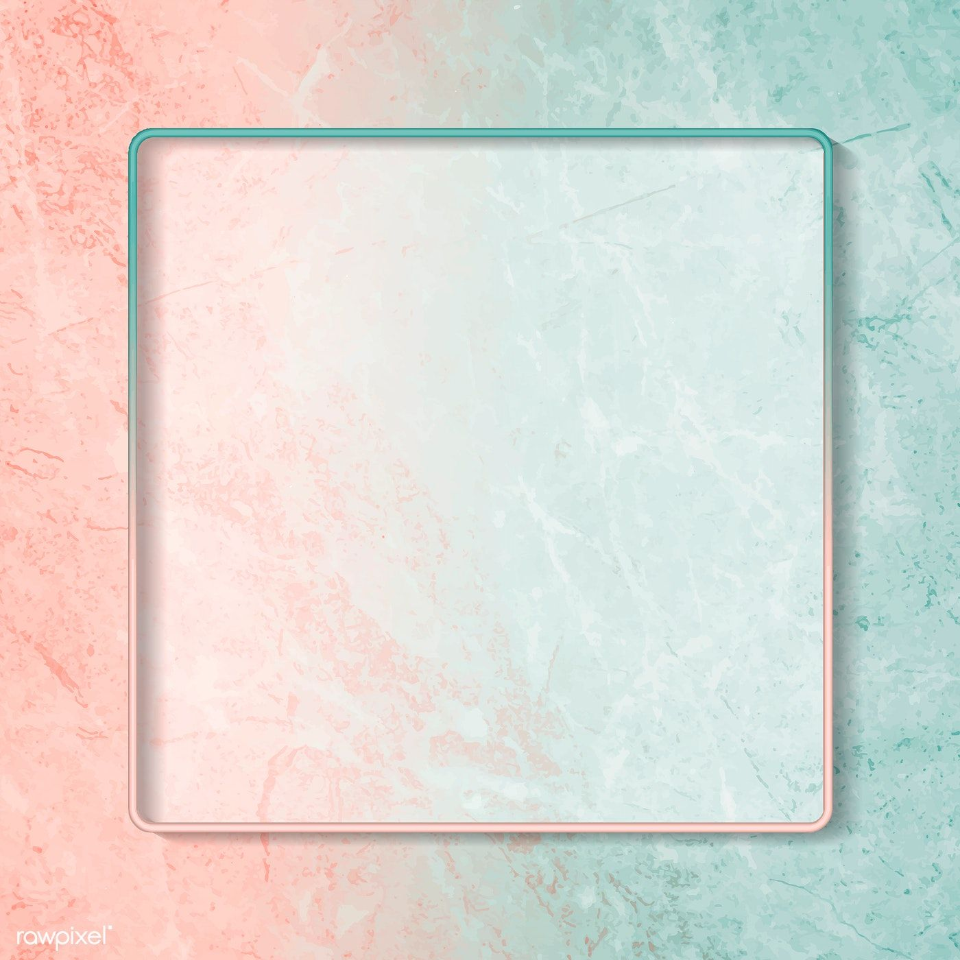 Download premium vector of Square frame on abstract background 1400x1400