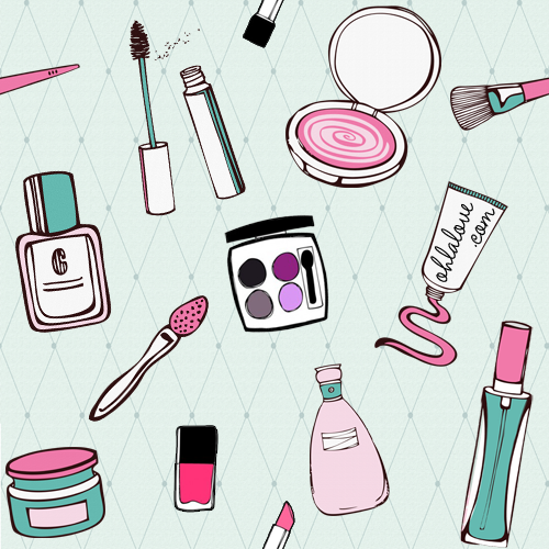 Free Download Background Patterns Cosmetics 500x500 For Your Desktop Mobile Tablet Explore 50 Makeup Wallpaper Tumblr Cute Makeup Wallpaper Makeup Wallpapers For Desktop