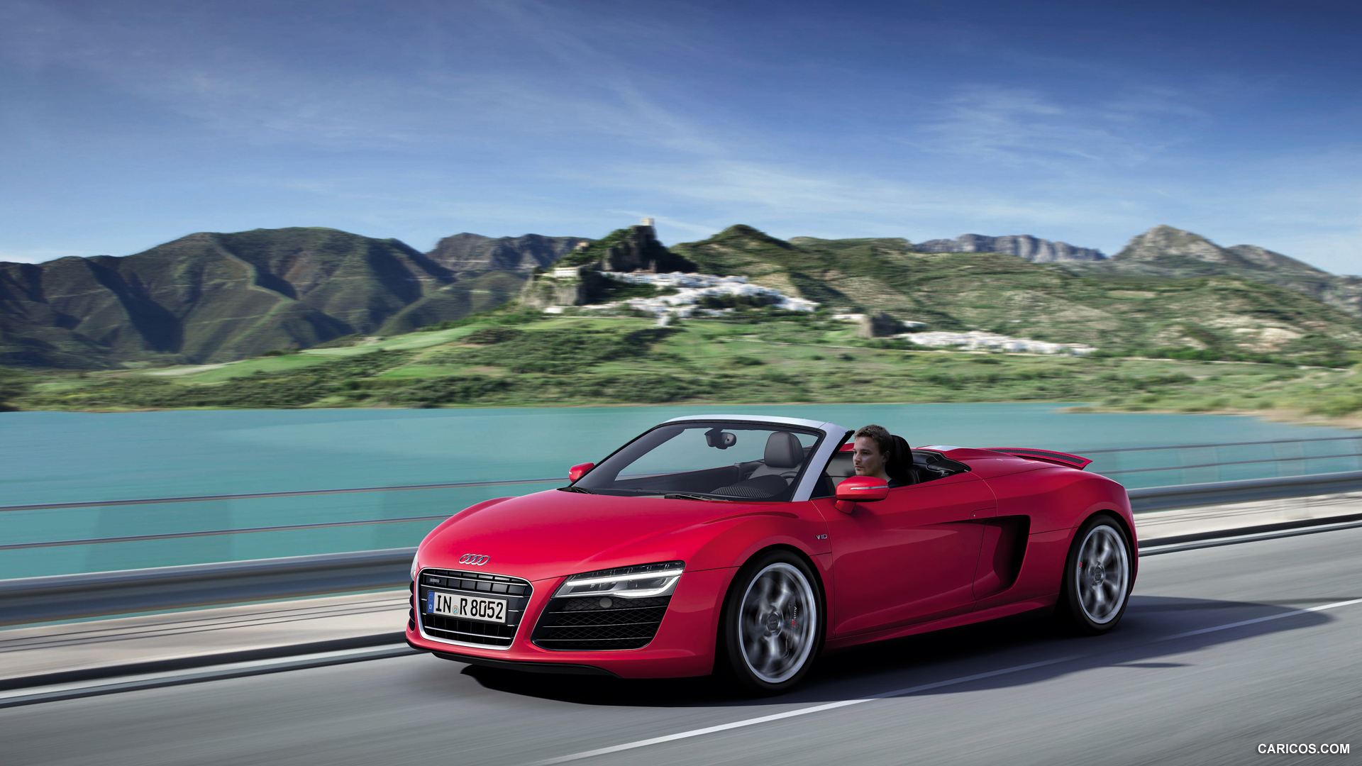 2013 Audi R8 Spyder V10   Front HD Wallpaper 6 1920x1080