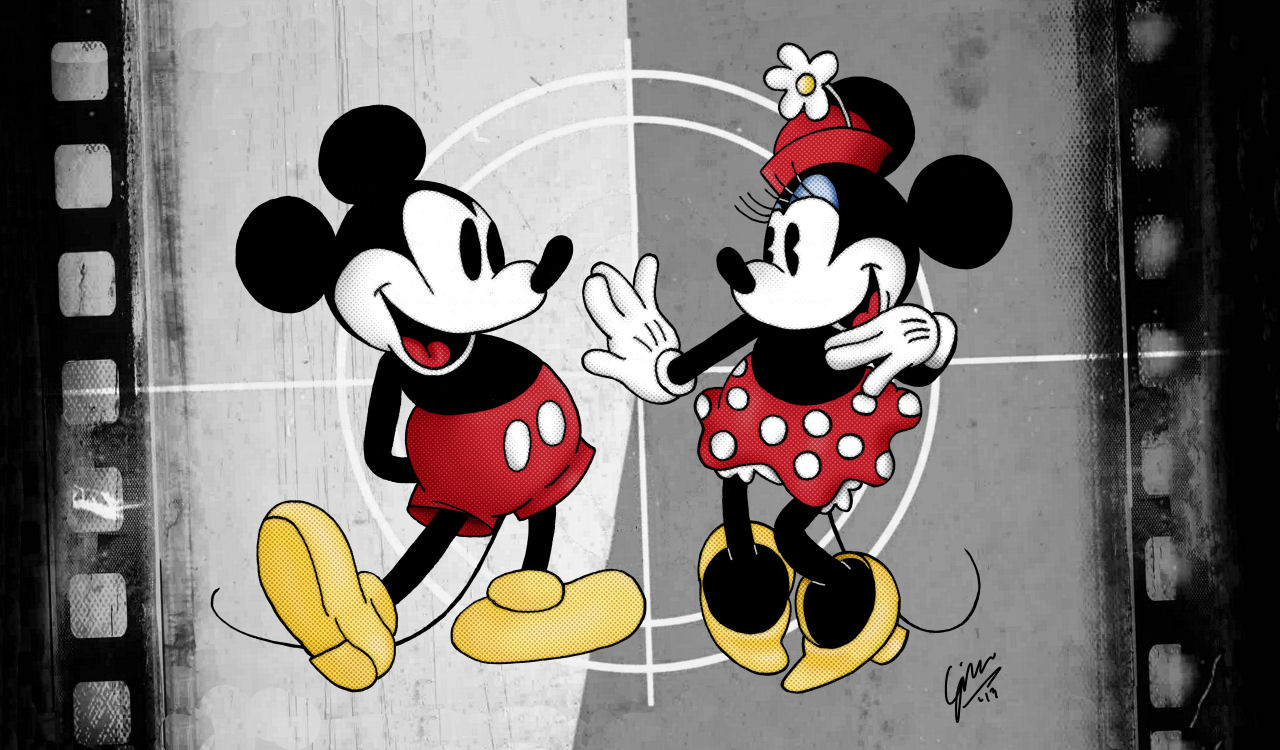 Minnie Mouse And Mickey Mouse Kissing >> Mickey and Minnie Mouse Wallpaper - WallpaperSafari