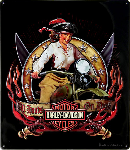 nude girl on harley davidson poster