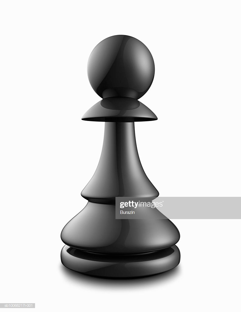 Black Pawn On White Background Stock Photo   Getty Images 791x1024