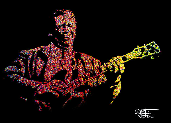 Bb King Wallpaper Bb king and lucille by wellone 600x433